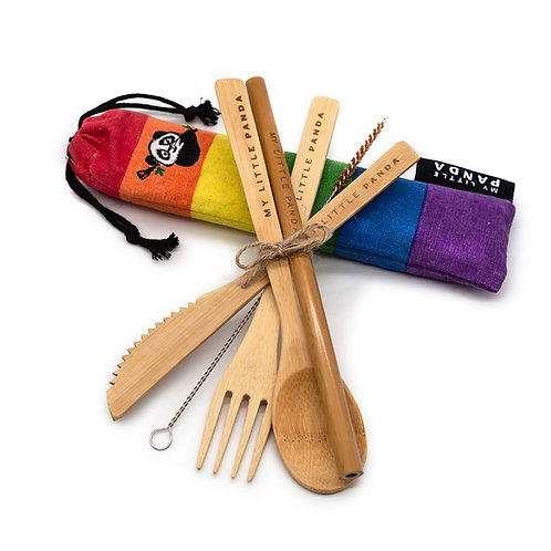 Compact Bamboo Lunch Set