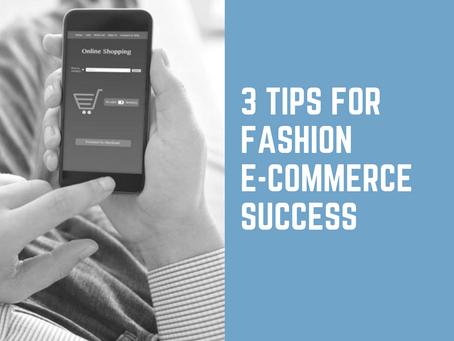 3 Tips for E-Commerce Success