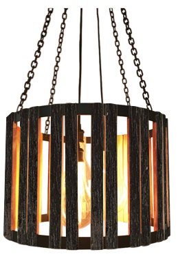 The Division Street Pendant - Blackened Wood