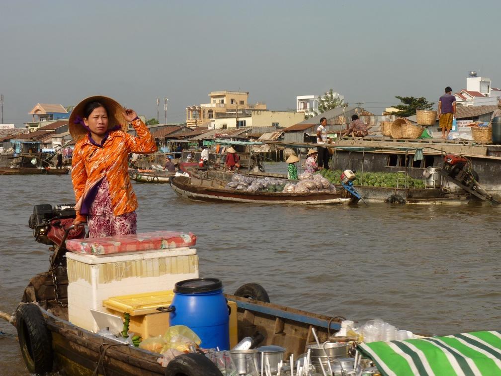 marché Cai Rang au Viêt Nam