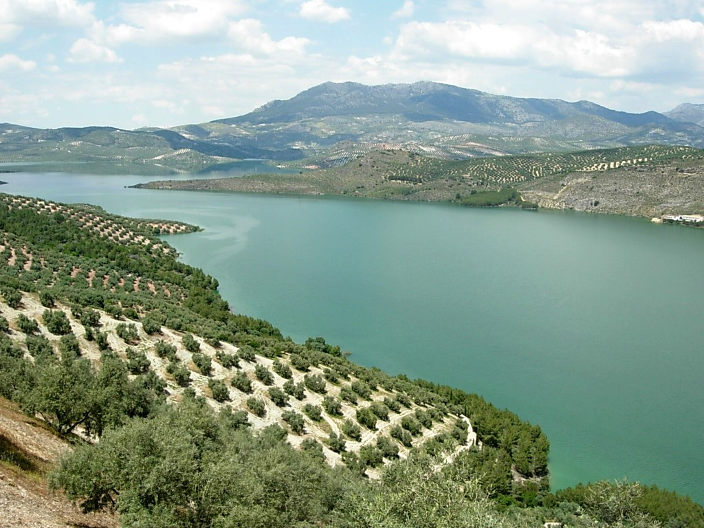 le lac d'Iznajar