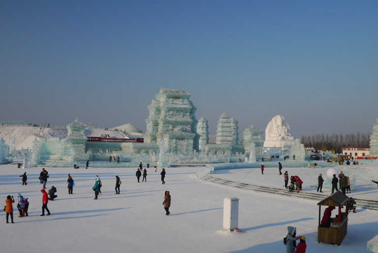 Sculpture sur glace de Harbin