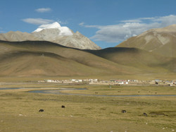 plateau tibétain, vu du train