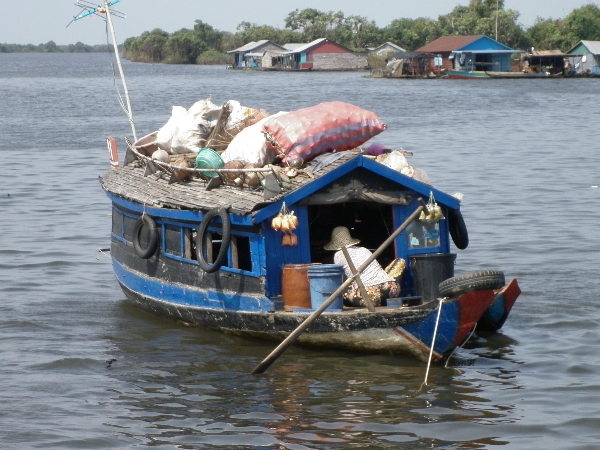 vie lacustre sur le lac Tonlé Sap