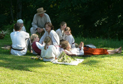 un dimanche traditionnel letton