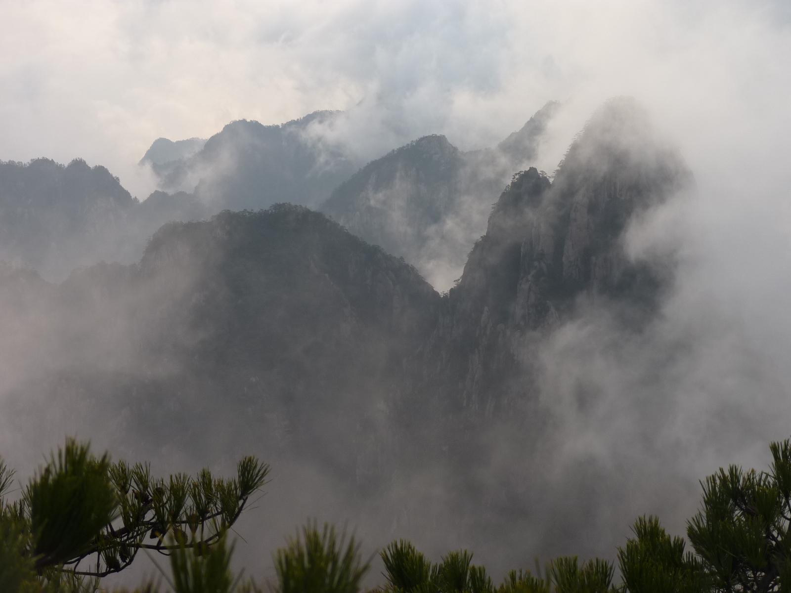 les montagnes Huang Shan