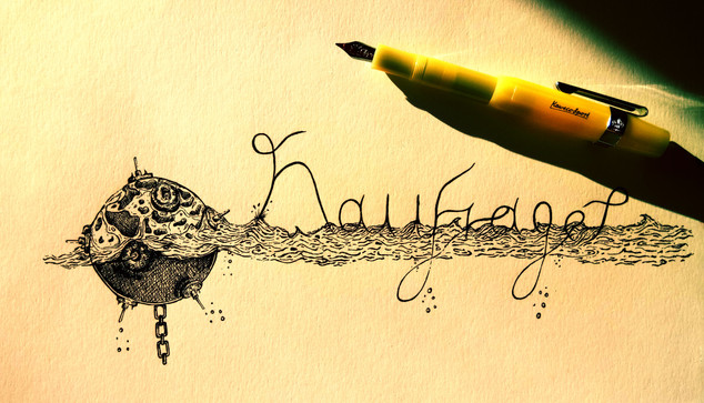 """Logo for the music project 'Naufrage"""""""