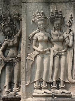 Devatas d'Angkor Vat