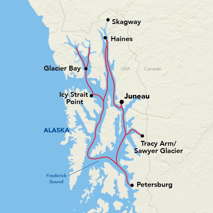 Southeast Alaska aboard American Cruise Line Small Ship Adventure