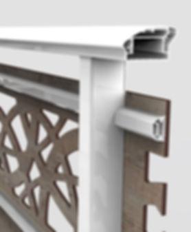 balaustra hpl struttura interna bianca 8