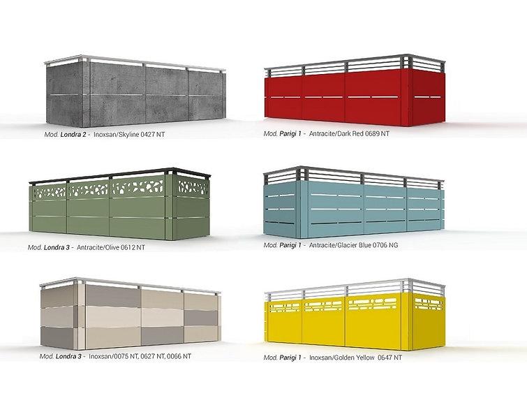 modelli balaustre colorate HPL - Il quad