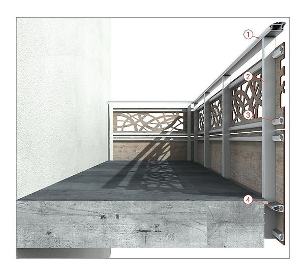 struttura portante balaustra hpl 720x652