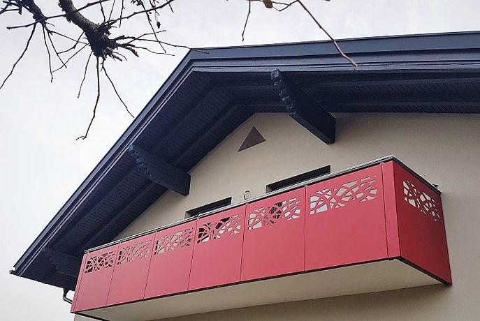 balaustra balcone HPL rosso - Nordic - I