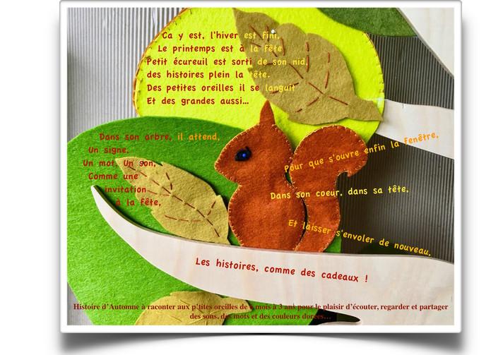 """Histoire pour entrer en automne et se retrouver """"Dans la forêt""""...a partir d'octobre 2021."""