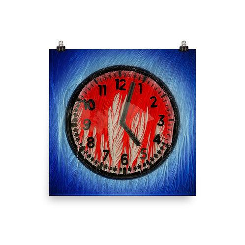 """MELTING CLOCK"" Enhanced Matte Paper Poster"