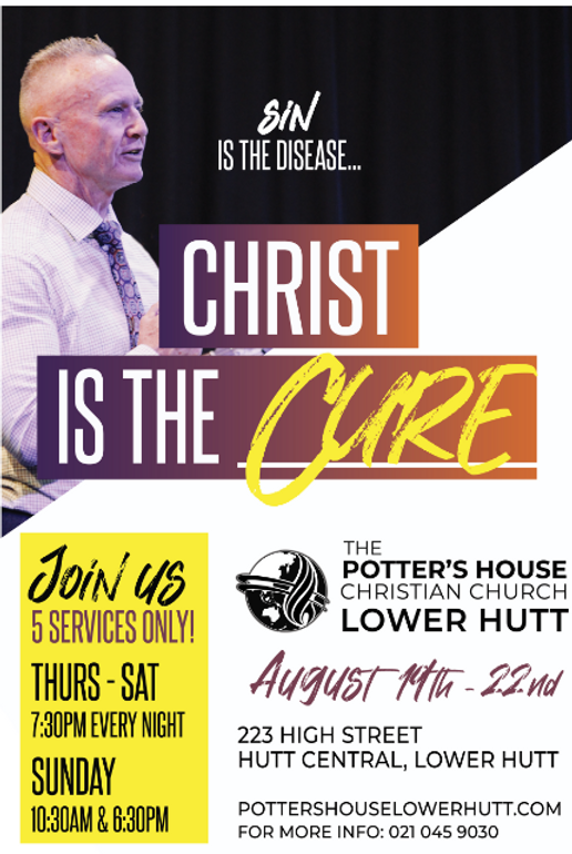 Visiting Pastor Scott McGrath coming to the Potters House Lower Hutt