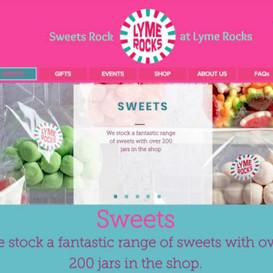 Lyme Rocks Sweets website