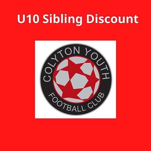U10s Sibling Discount sub 2020-2021