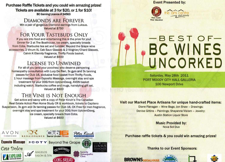 Wine Event Brochure