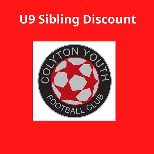 U9s Sibling Discount sub 2020-2021