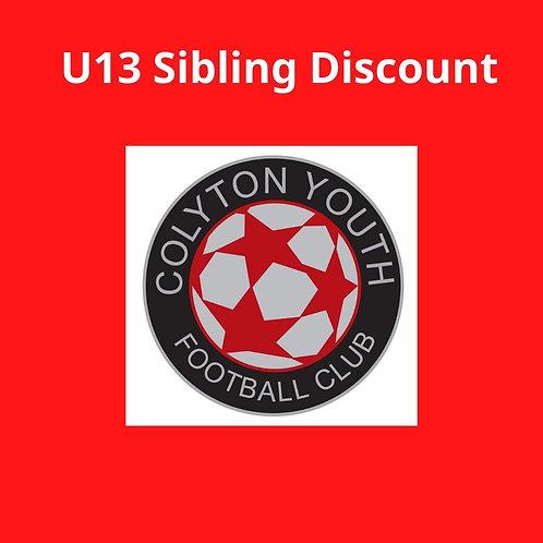 U13s Sibling Discount sub
