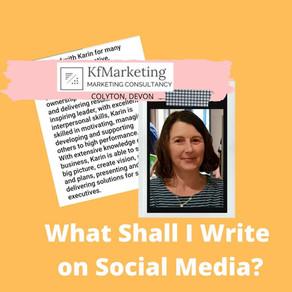 What Should I Write on Social Media?