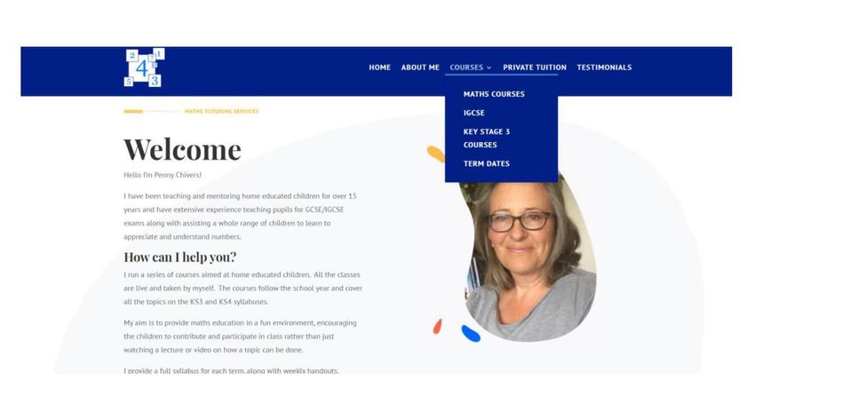 online maths website text