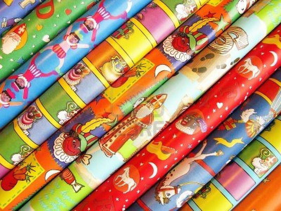 Seasonal Gift Wrap for Each Gift Box or Baker's Tray