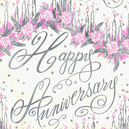 Anniversary Gift Wrap for Each Gift Box or Baker's Tray