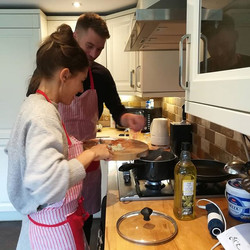 Surprised birthday Thai cooking class wi