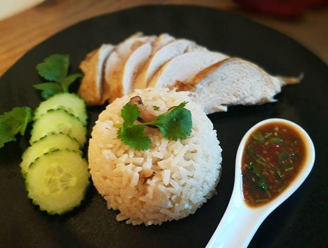 Khao Mun Gai. This is special rice cook