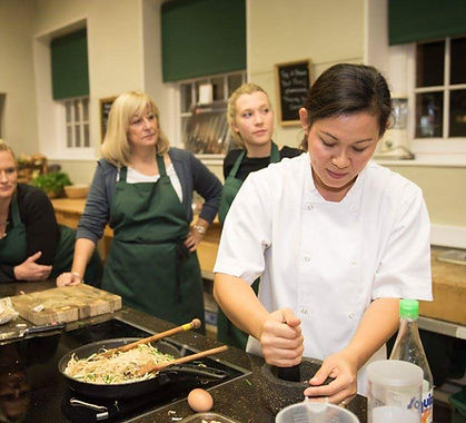 Belle Case with Thai cooking class.