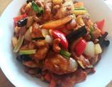 Tonight dinner was chicken with cashew n