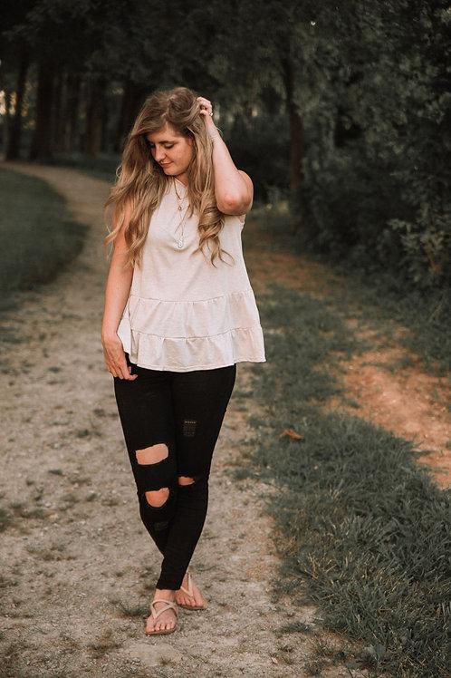 Tan tank blouse