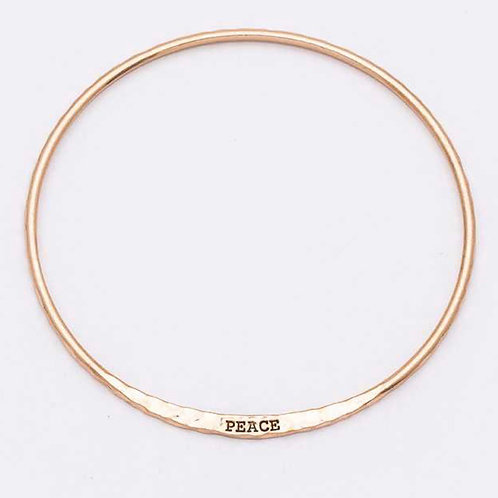 Message gold bangles