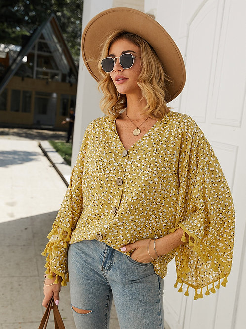 Floral mustard top