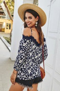 Floral Top with lace accents