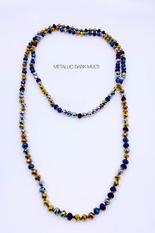 """60"""" glass beaded necklace"""