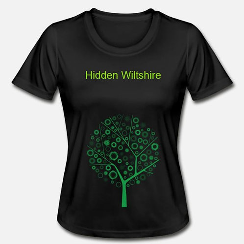 Black Ladies Fitted T-Shirt
