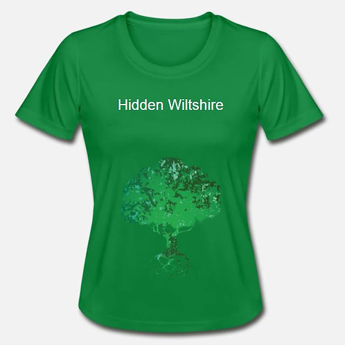 Green Ladies Fitted T-Shirt