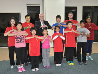 NZ Kung Fu Wu Shu federation president come to visit our class!