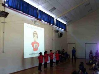 Kung Fu World team visited Takapuna Primary school