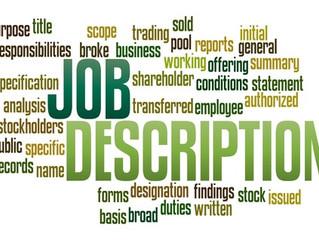 Writing Job Descriptions Using Goals and Not Tasks