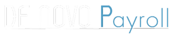 De Novo Payroll Logo Transparent for Bla