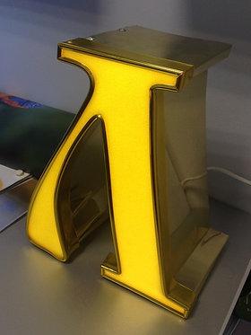 Буква из алюмин.профиля с фронтальной засветкой