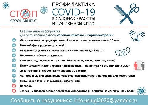 "Плакат А4 ""Профилактика Соvid-19"", тип 1"
