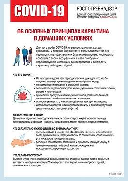"""Плакат А4 """"Карантин"""", тип 2"""
