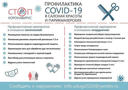 "Плакат ""Профилактика Соvid-19"", тип 2"