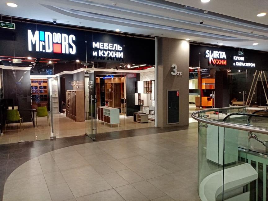 Mr.Doors - вывеска магазина
