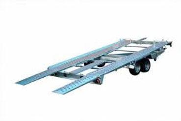 Autotrailer kippbar auch für tiefergelegte Fahrzeuge KFZ Autos Autotransportanhänger mieten leihen in Köln